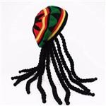 Peruca Rastafari Jamaica Bob Marley com Gorro