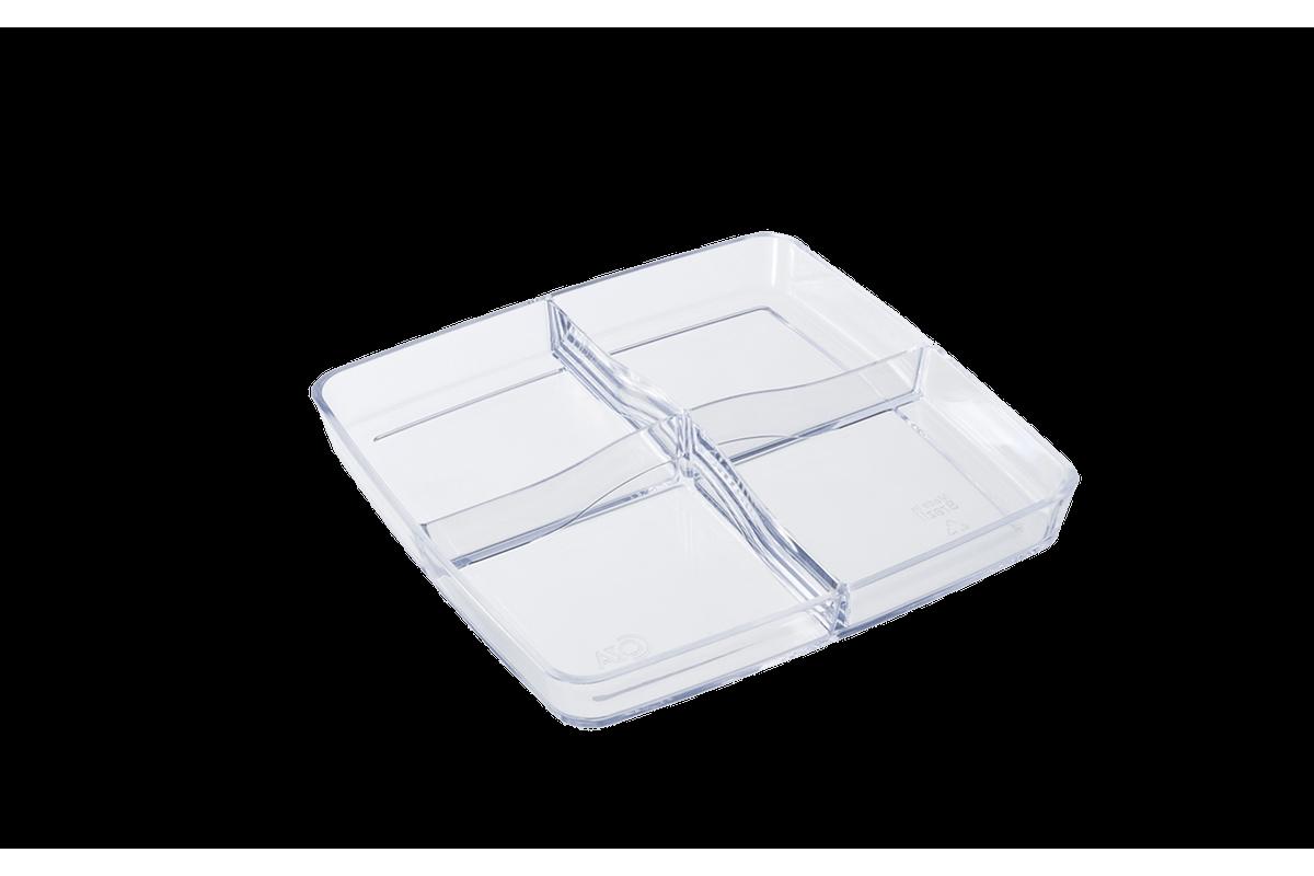 Petisqueira Mod 21,4 X 21,4 X 3,3 Cm Cristal Coza