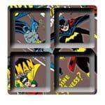 Petisqueira Quadrada Batgirl Batman Dc Comics Marrom - 4 Divisorias