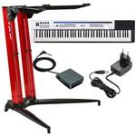 Piano Digital Casio Px5s + Estante Stay 700/01 Vermelha