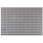 Pied de Poule Lugar Amer Pl 45 Cm X 30cm Preto/branco