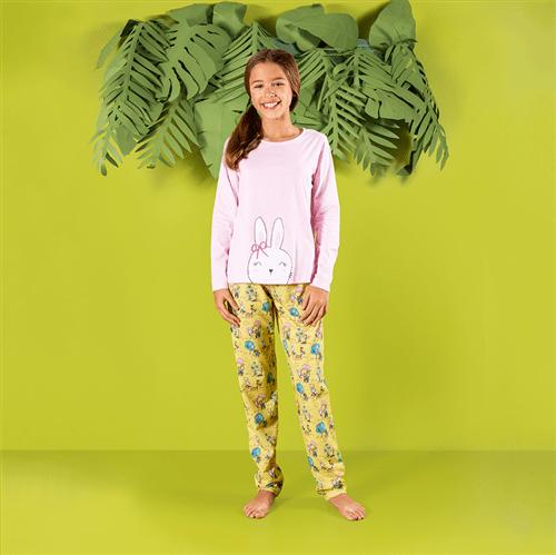 Pijama Avulso Amarelo e Rosa/p