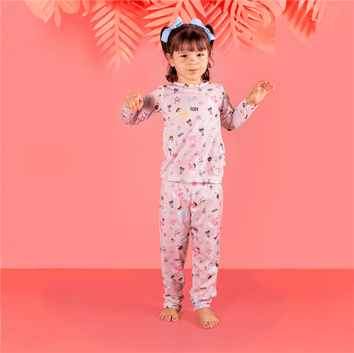 Pijama Blusa M/l e Calça Pij.blusa M/l e Calca Avulso Rosa/m