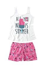 Pijama Estampa Summer Feminino Malwee Liberta Branco - G