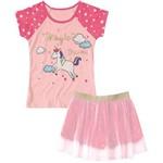 Pijama Marisol Estrelas Menina Rosa