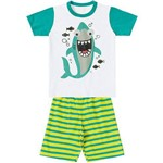 Pijama Marisol Tubarões Menino Verde