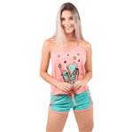 Pijama Short Doll Baby Gabriela em Viscose (Coral) P