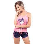 Pijama Short Doll Baby Gabriela em Viscose (Rosa) P