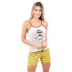 Pijama Short Doll Estampa de Bicho (Abelha) P