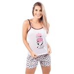 Pijama Short Doll Estampa de Bicho (Vaca) P