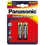 Pilha Aa Alcalina Com2 Panasonic