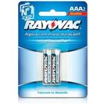 Pilha Alcalina AAA C/ 2 Unid. - Rayovac