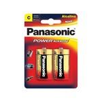 Pilha Alcalina Media C Panasonic 6 Cartelas com 2 Unidades