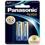 Pilha Alcalina Premium Pequena Aa Panasonic 16 Cartelas com 2 Unidades