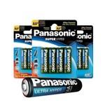 Pilha Comum Zinco Carvão Palito Aaa Panasonic Cartela com 4 Unidades