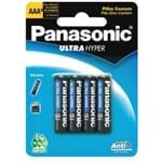 Pilha Panasonic Comum Palito AAA com 4 um