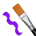 Pincel Chato Cerda Sintético Dourado Cabo Curto 483 - Pincéis Tigre