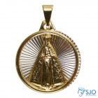 Pingente de Nossa Senhora Aparecida Folheado a Ouro com Inox | SJO Artigos Religiosos