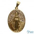 Pingente de Nossa Senhora das Graças Diamantada Folheado a Ouro | SJO Artigos Religiosos