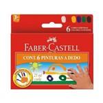 Pintura Dedo 6 Cores 25ml Faber-castell