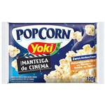 Pipoca para Microondas Pop Corn Manteiga Cinema 100g - Yoki