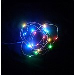 Pisca Micro Led com 20 Lampadas Colors 2m a Pilha