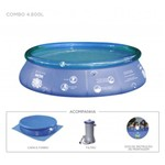 Piscina com Filtro Splash Fun 4600L Mor