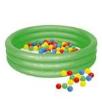 Piscina de Bolinhas Inflável Cor Verde com 100 Bolinhas Mor