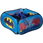 Piscina Infantil de Bolinhas Super Herói Batman Azul Portátil com 200 Bolinhas