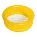 Piscina Inflável Piso Puff Amarelo 26 Litros - Bel Lazer