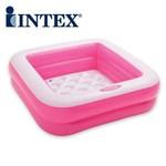 Piscina Inflável Quadrada Soft para Bebê 57 Litros 7538-5 Rosa Intex