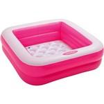 Piscina Soft com Fundo Inflável Rosa - Intex