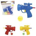 Pistola Lanca Bola com 2 Bolas Colors Ultra Mira na Solapa Wellkids