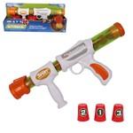 Pistola Lanca Bola Espuma com 12 Bolas 3 Copos Ball Strike na Cartela Wellkids