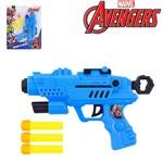 Pistola Lanca Dardo Espuma com 3 Dardos Vingadores Avengers na Cartela