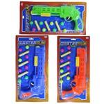 Pistola Revolver Lanca Bola Dardo Ventosa com 3 Dardos 8 Bolas Colors
