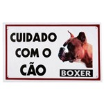 Placa Advertência Cão Boxer Fixação Obrigatória por Lei