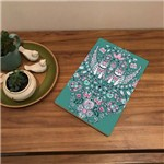 Placa de Bancada Decorativa Corujas e Folhas Coloridas