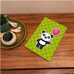 Placa de Bancada Decorativa Panda Segurando Balão