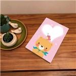 Placa de Bancada Decorativa Ursinho, Pássaro e Coração