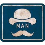 Placa de Mdf e Papel Decor Home Litoarte 24 X 19 Cm - Modelo Dhpm- 031 Man