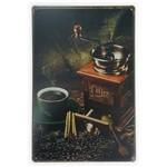 Placa de Metal Coffee Moedor - 30 X 20 Cm