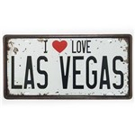 Placa de Metal Decorativa I Love Las Vegas