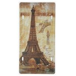 Placa de Metal Decorativa Paris Exposition