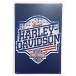 Placa de Metal Harley-davidson Genuine - 30 X 20 Cm