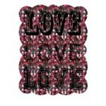 Placa de Metal Love Placa Decorativa de Metal Love Amor