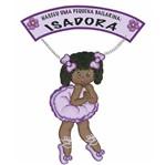 Placa de Porta Mdf Decoupage Menina Bailarina Dm-041 - Litoarte