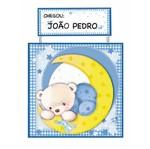Placa de Porta Mdf Decoupage Ursinho Dm-028 - Litoarte