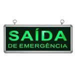 Placa de Sinalização para Saída de Emergência de Led Un-10 Unik