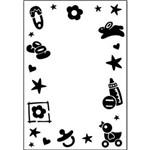 Placa de Textura Emboss 10,6x15 Cm - Modelo Moldura Baby